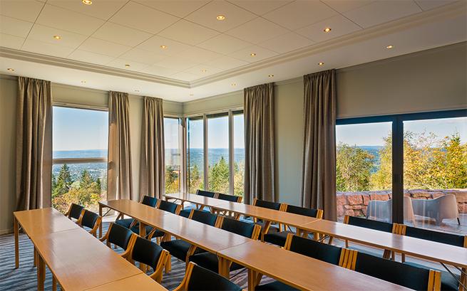 Utsikten fra et møterom på Soria Moria Hotell og konferansesenter