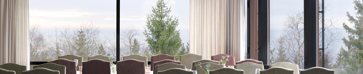 Utsikten fra restauranten på Soria Moria Hotell og konferansesenter