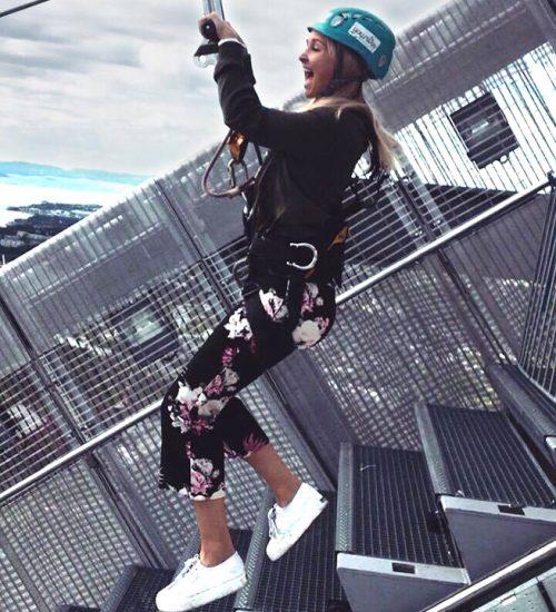 Holmenkollen aktivitet, zipline fra toppen av Holmenkollenhoppet